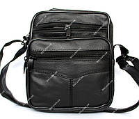 Кожаная мужская сумка - барсетка вместительная (888)