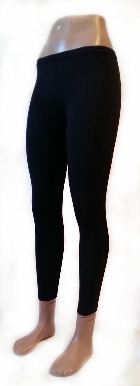 Класичні жіночі легінси микромасло чорні № 204