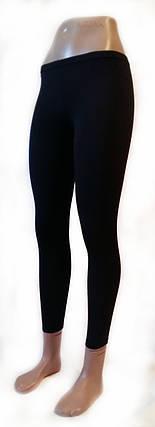 Класичні жіночі легінси микромасло чорні № 204, фото 2