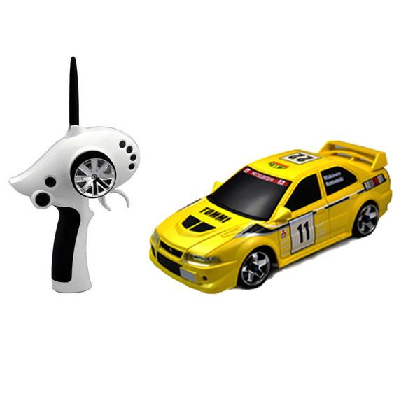 Автомодель р/у 1:28 Firelap IW02M-A Mitsubishi EVO 2WD (желтый)