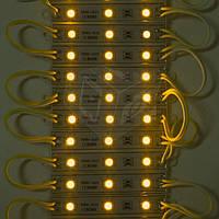 Светодиодная лента-модуль SMD5050 60 светодиодов, 12 В DC, IP65 (желтый)