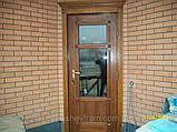 Входная евродверь со стеклопакетом (деревянные евроокна), фото 4