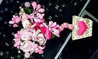 "Магнит-валентинка ""Ярко-розовый"", мал."