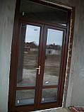 Входная евродверь со стеклопакетом (деревянные евроокна), фото 5