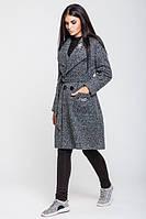 Женское пальто весна-осень Варшава, темно-серый меланж, 4 размера
