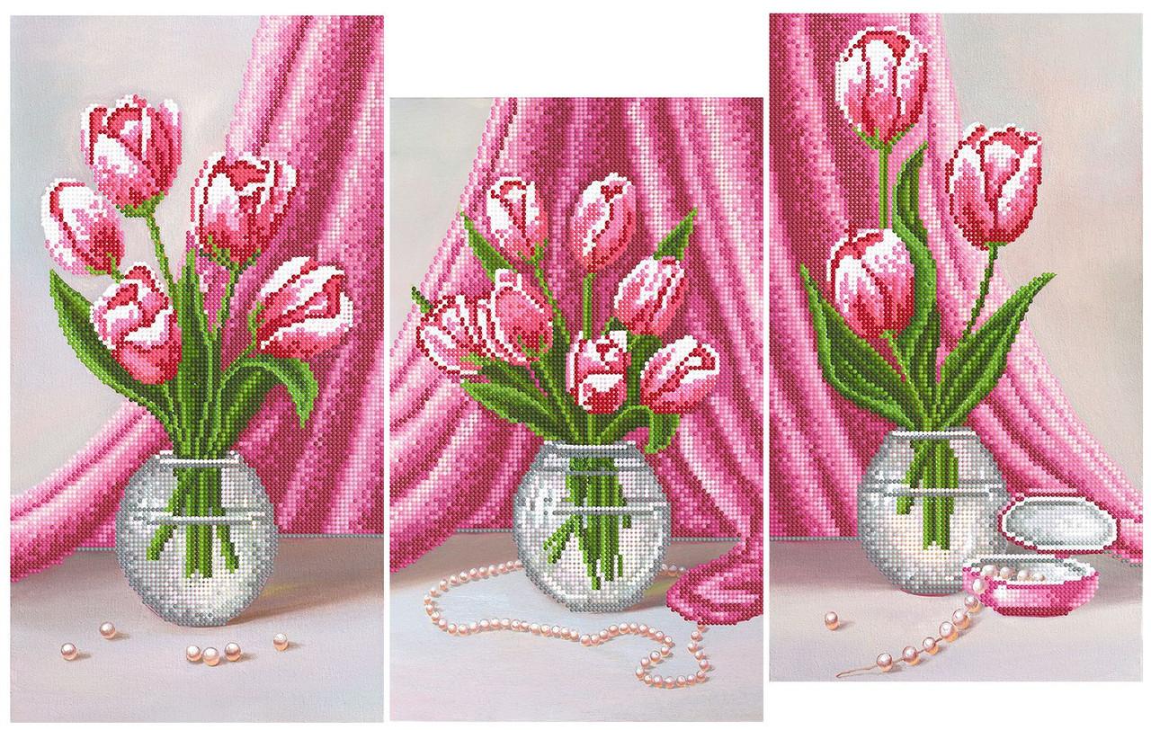 Схема для вышивки бисером триптих
