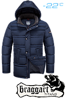 Пуховики мужские большие размеры, куртки синего цвета Braggart