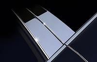 Хром накладки дверных стоек 10 элементов Volvo XC90 2007-2012