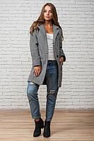 Женское пальто весна-осень Мечта, серое, 3 размера