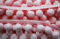 Тасьма с помпонами 20 мм розовые