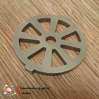 Решетка (сетка) для мясорубки Shivaki кеббе Ø54мм с ушками, фото 1