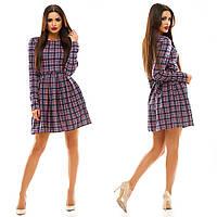 Платье трикотаж клетка   . Платья. Купить платье. Магазин одежда. Платье фото.Одежда  каталог.