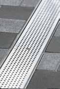 Решетка перфорированная 100см., C250, нержавеющая сталь, для каналов V 100 крепления DRAINLOCK
