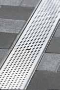 Решетка перфорированная 100см., C250, нержавеющая сталь, для каналов V 100 крепления DRAINLOCK, фото 1