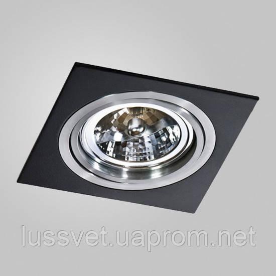 Вбудований світильник Azzardo gm2101_bk_alu Siro