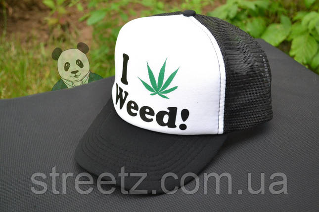 Кепка тракер I love Weed!, фото 2