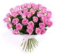 Роза розовая 60см 19шт