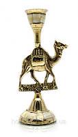 Подсвечник бронзовый с перламутром Верблюд