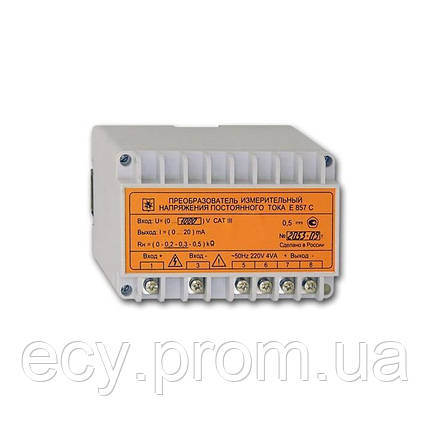 E857 Преобразователь измерительный напряжения постоянного тока, фото 2