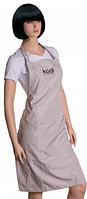 Фартук Kodi Professional бежевый с черным логотипом длинный