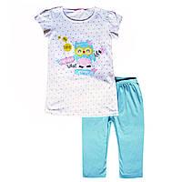Летний костюм для девочки; 128 размер