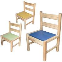 Стульчик детский для сада-неразборный ольховый.  Для старше группы детского сада 171928 ТМ Дерево