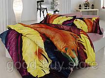 Комплект постельного белья First choice  3D сатин BELLA Двуспальный Евро Абстракция