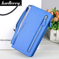 Женский кошелек Baellerry Italia Classic (портмоне, клатч) Синий + сережки в подарок