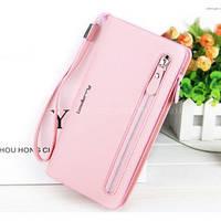 Клатч Baellerry Italia Classic женский светло-розовый (портмоне, кошелек) + сережки в подарок