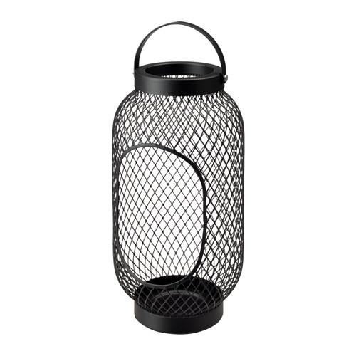 """IKEA """"ТОППИГ"""" Фонарь для формовой свечи, черный, 36 см"""