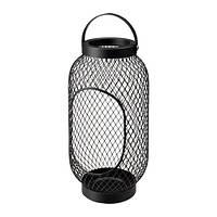 """IKEA """"ТОППИГ"""" Фонарь для формовой свечи, черный, 36 см, фото 1"""