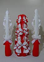 """Набор """"Семейный очаг"""", красного цвета, для свадьбы"""