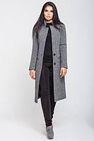 Женское пальто весна-осень Мечта миди, серый меланж, 4 размера