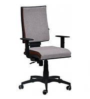 Кресло Спейс механизм FS HB Papermoon-031 серый/боковины Неаполь-08 бордовый