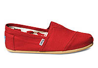 Мужские TOMS Red Canvas Men's Classics
