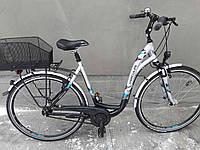 Дамский велосипед Hercules женский с корзиной