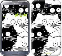 "Чехол на Samsung Galaxy Note 2 N7100 Коты v2 ""3565c-17"""