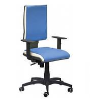 Кресло Спейс механизм FS HB Неаполь-06 голубой/боковины Неаполь-50 белый