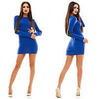 Платье ангора, эко.кожа (латки)      . Платья. Купить платье. Магазин одежда. Платье фото.Одежда  каталог.
