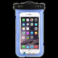 """Водонепроницаемый чехол для смартфонов до 5.5"""" Голубой, фото 1"""