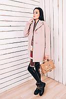 Женское весеннее пальто из бежевого кашемира