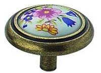Ручка   мебельная  1-516 (кнопка фарфор).