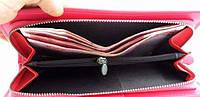 Стильный клатч-кошелек Baellerry (нежный зефир, розовый) и серьги-шарики в подарок