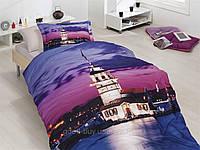 Комплект постельного белья First choice  3D бамбук KIZ KULESI Полуторный Архитектурные сооружения