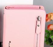 Кошелек женский розовый Baellerry Classic (цвет- зефир) + серьги-шарики в подарок