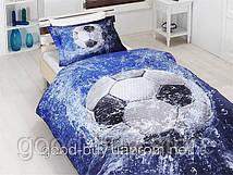 Комплект постельного белья First choice  3D бамбук FOOTBOOL Полуторный Спорт