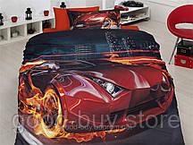 Комплект постельного белья First choice  3D бамбук FEVER Полуторный Транспорт