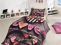 Комплект постельного белья First choice  3D бамбук FAVOR Полуторный День святого Валентина, свадьба, романтика