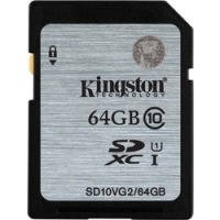 Карта памяти KINGSTON SDXC 64 GB G2 (CLASS 10) UHS-I // 6236670