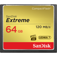 Карта памяти SANDISK CF 64GB Extreme R120/W85MB/s // 6233840